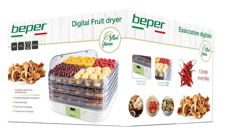 deshydrateur de fruits digital beper. Black Bedroom Furniture Sets. Home Design Ideas