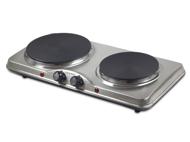 Fornello elettrico doppia piastra beper for Fornello campeggio elettrico